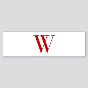 W-bod red2 Bumper Sticker