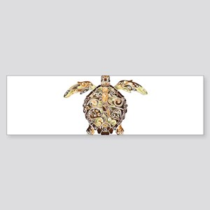 Filigree Turtle Bumper Sticker