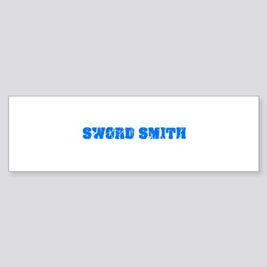 Sword Smith Blue Bold Design Bumper Sticker