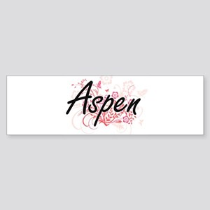 Aspen Artistic Name Design with Flo Bumper Sticker