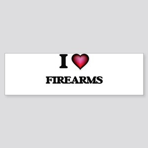 I love Firearms Bumper Sticker