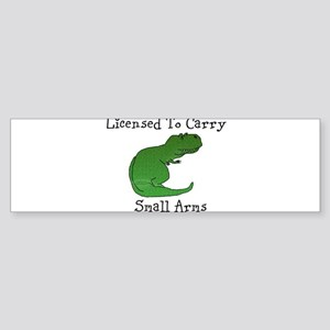 T-Rex - Licensed To Carry Small Arms Bumper Sticke