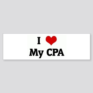 I Love My CPA Bumper Sticker