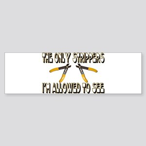Only Strippers Bumper Sticker