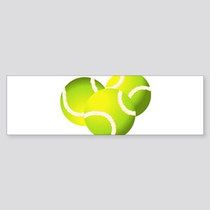 Tennis balls art Bumper Sticker