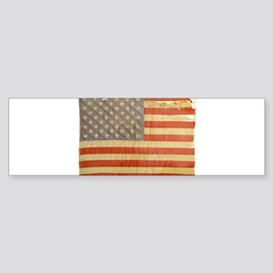 Vintage Flag Bumper Sticker