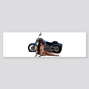 Bike and Babe Sticker (Bumper)