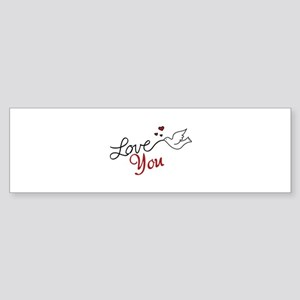 Dove Outline Bumper Stickers - CafePress