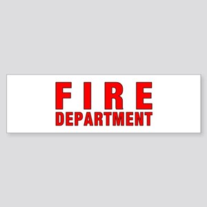 Fire Department Sticker (Bumper)