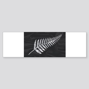 Silk Flag Of New Zealand Silver Fer Bumper Sticker