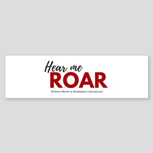 Hear me roar Women's March on Washington Bumpe
