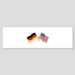 German American Flags Bumper Sticker