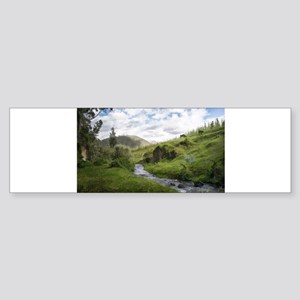 Hillside Pasture with Babbling Broo Bumper Sticker