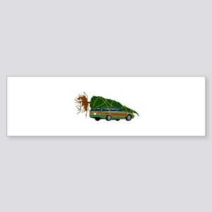 Bringing The Tree Home Bumper Sticker
