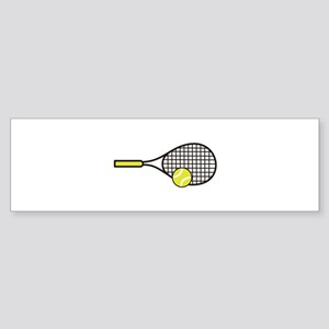 TENNIS RACQUET & BALL Bumper Sticker