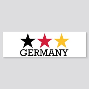 Germany stars flag Sticker (Bumper)