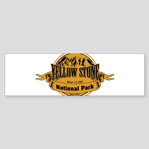 Yellow Stone Wyoming Bumper Sticker
