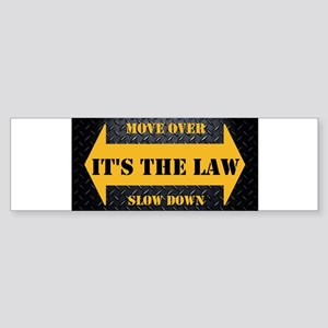 Move Over Safety Plate Bumper Sticker