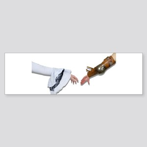 Medieval Grasp Hands Bumper Sticker