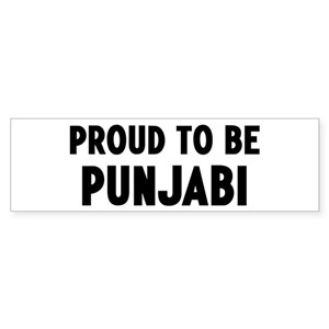 Proud to be Punjabi Bumper Sticker