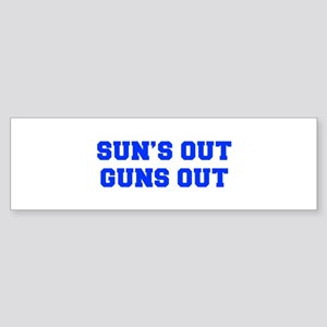 SUNS-OUT-GUNS-OUT-FRESH-BLUE Bumper Sticker