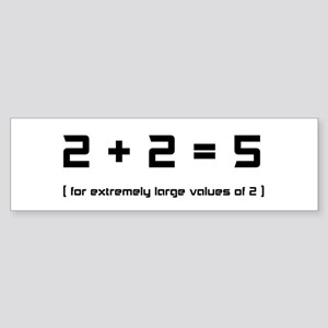 Extremely Large Twos Sticker (Bumper)