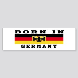 Born In Germany Sticker (Bumper)