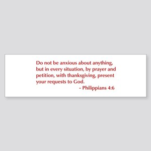 Philippians-4-6-opt-burg Bumper Sticker