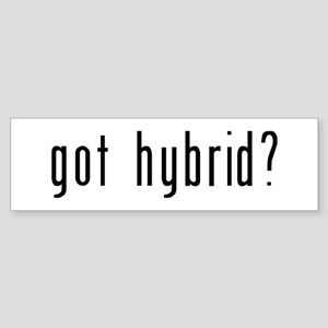 got hybrid? Sticker (Bumper)