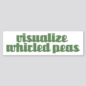 VISUALIZE PEAS Bumper Sticker
