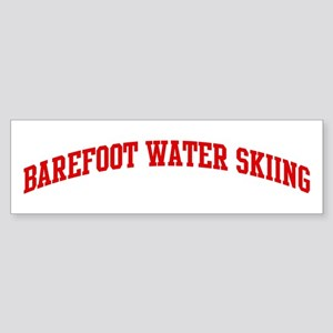Barefoot Water Skiing (red cu Bumper Sticker