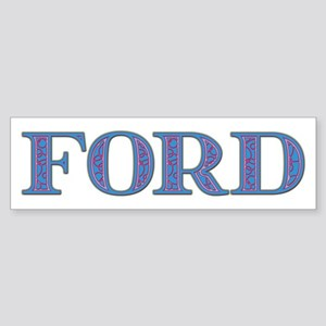 Ford Blue Glass Bumper Sticker