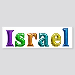 Israel Shiny Colors Bumper Sticker