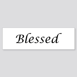 Blessed Calligraphy Style Sticker (Bumper)