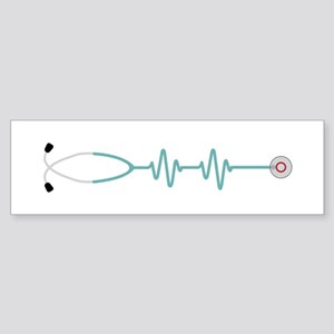 Stethescope Heart Rate Monitor Bumper Sticker