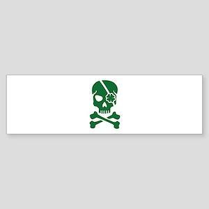 Irish skull Sticker (Bumper)