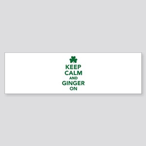 Keep calm and ginger on Sticker (Bumper)