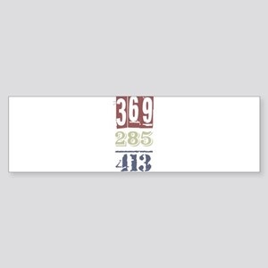 Numbers Bumper Sticker
