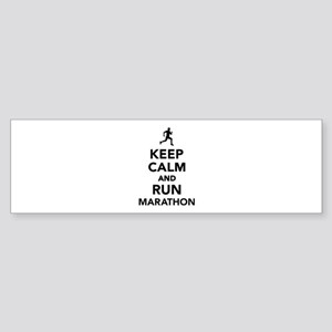 Keep calm and run Marathon Sticker (Bumper)