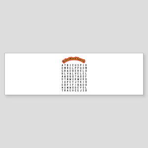 Echocardiogram Word Search Sticker (Bumper)