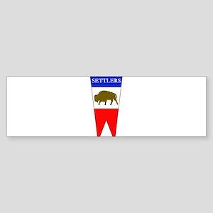 Buffalo Fork Settlers item Bumper Sticker