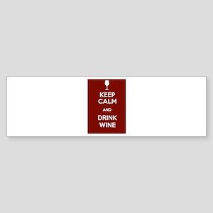 Keep Calm and Drink Wine Sticker (Bumper)