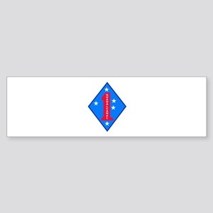 HQ Battalion - 1st Marine Division Sticker (Bumper