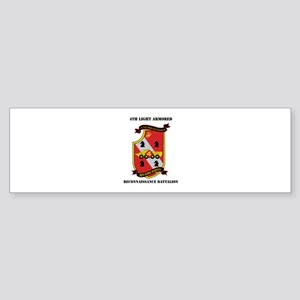 4th LAR Battalion with Text Sticker (Bumper)