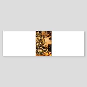 Christmas decor scene golden 2 Bumper Sticker