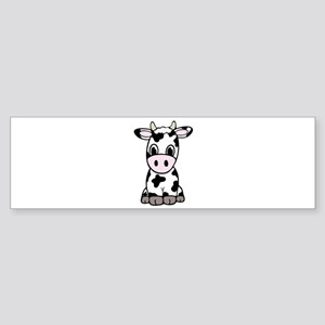Cute Cartoon Cow Bumper Sticker