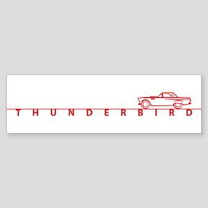 1955 T Bird Top on Script Red Bumper Sticker