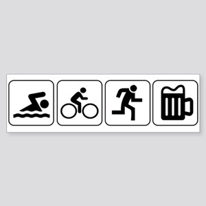 Swim Bike Run Drink Sticker (Bumper)