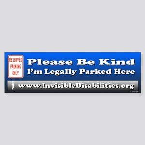 I'm Legally Parked Here Bumper Sticker