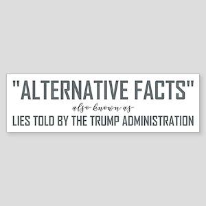 ALTERNATIVE FACTS Bumper Sticker